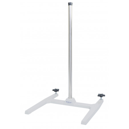 Stand - Base with 28 x 1 in stand rod - cast zinc-aluminum epoxy coated base and 304 SS rod